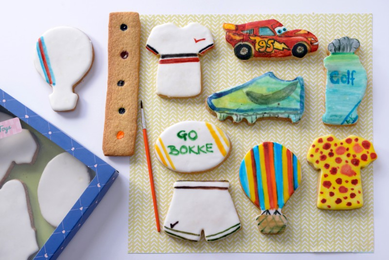 White Boys Toys : White canvas boys toys sport biscuit by design